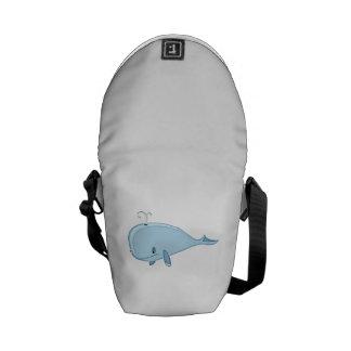 Cartoon Whale Messenger Bags