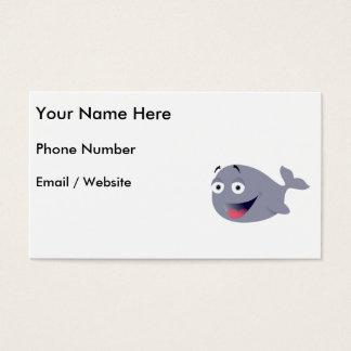 Cartoon Whale, Sea Mammal Business Card