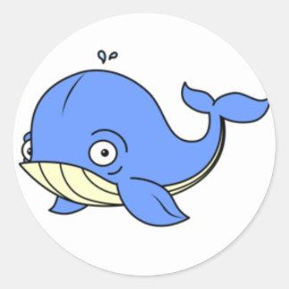 Cartoon Whale Sticker