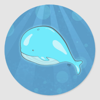 Cartoon Whale Stickers