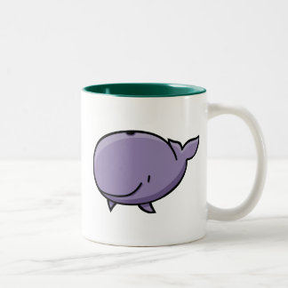 Cartoon Whale Two-Tone Coffee Mug