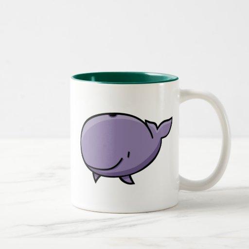Cartoon Whale Two-Tone Coffee Mug