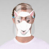 Cartoon White Sheep Face Animal Face Shield