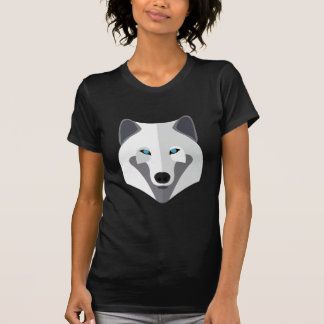 Cartoon White Wolf Head Tshirt