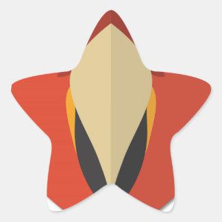 Cartoon Wild Parrot Star Sticker
