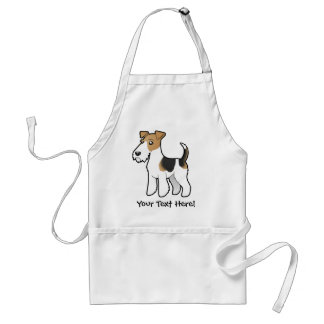 Cartoon Wire Fox Terrier Adult Apron