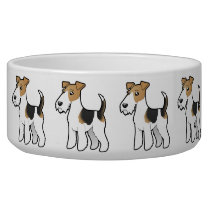 Cartoon Wire Fox Terrier Bowl