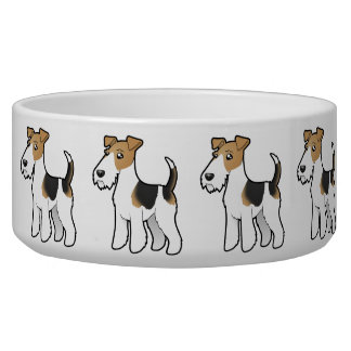 Cartoon Wire Fox Terrier Bowl