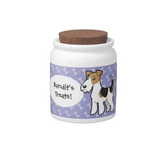 Cartoon Wire Fox Terrier Candy Dishes