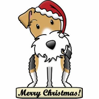Cartoon Wire Fox Terrier Christmas Ornament Photo Cut Out