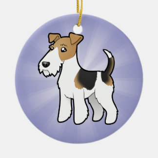 Cartoon Wire Fox Terrier Christmas Tree Ornaments