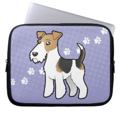 Neoprene Laptop Sleeve 10 inch with Wire Fox Terrier Phone Cases design