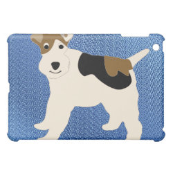 Case Savvy iPad Mini Glossy Finish Case with Wire Fox Terrier Phone Cases design