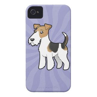Cartoon Wire Fox Terrier iPhone 4 Case