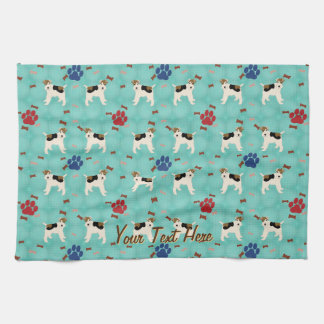 Cartoon Wire Fox Terrier Towel