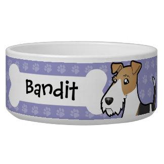Cartoon Wire Fox Terrier Dog Bowl