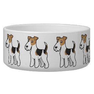 Cartoon Wire Fox Terrier Pet Bowl