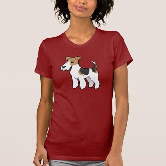 Cartoon Wire Fox Terrier T-Shirt