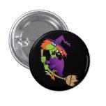 Cartoon Witch Button