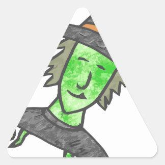 Cartoon Witch Triangle Sticker