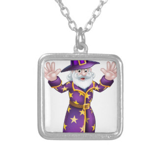 Cartoon Wizard Silver Plated Necklace