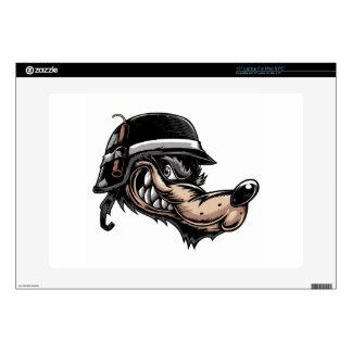 """Cartoon Wolf 15"""" Laptop Decals"""