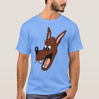 Cartoon Wolf head Shirt