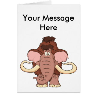 Cartoon Woolly Mammoth Card