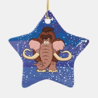 Cartoon Woolly Mammoth Ceramic Ornament