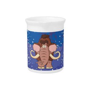 Cartoon Woolly Mammoth Drink Pitcher