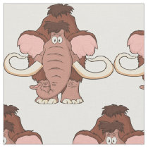 Cartoon Woolly Mammoth Fabric