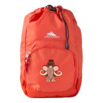 Cartoon Woolly Mammoth High Sierra Backpack