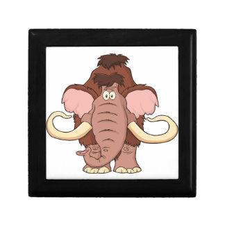 Cartoon Woolly Mammoth Keepsake Box