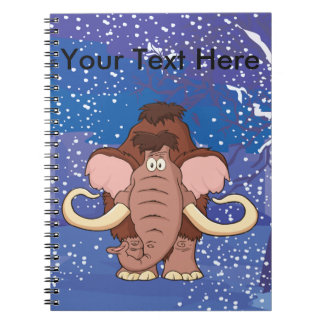 Cartoon Woolly Mammoth Notebook