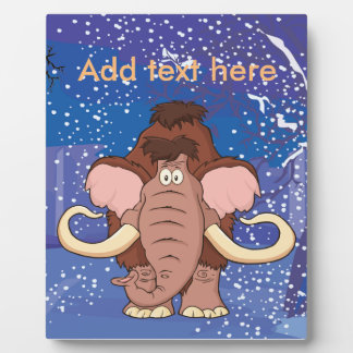 Cartoon Woolly Mammoth Plaque