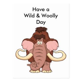 Cartoon Woolly Mammoth Postcard