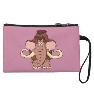 Cartoon Woolly Mammoth Wristlet Wallet