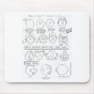 """Cartoon Worksheet"" Mouse Pad"
