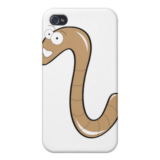 Cartoon worm case case for iPhone 4