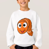 Cartoon Worm Sweatshirt
