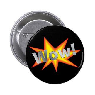Cartoon WOW Pinback Button