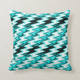 Cartoon X-ray Lasers Zigzag Pattern Throw Pillow