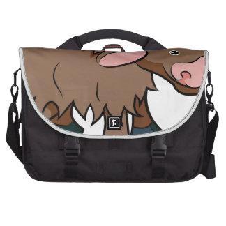 Cartoon Yak animal character Bag For Laptop