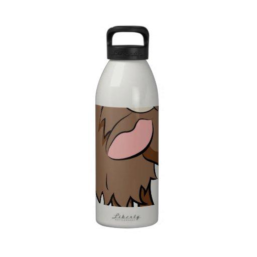 Cartoon Yak animal character Water Bottles