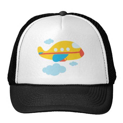 Cartoon Yellow Airplane Hat