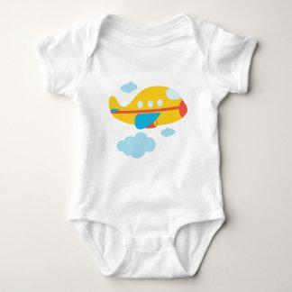 Cartoon Yellow Airplane T Shirt