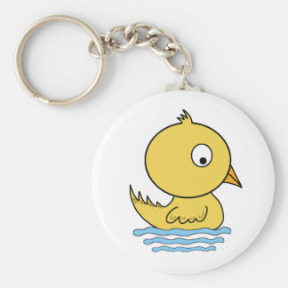 Cartoon Yellow Duck Keychain
