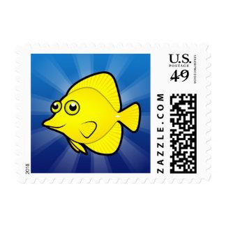 Cartoon Yellow/Purple Tang Postage Stamp