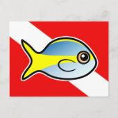 Yellowtail Snapper Scuba Diver Flag