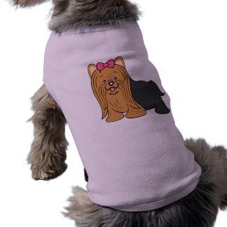 Cartoon Yorkie Dog Shirt